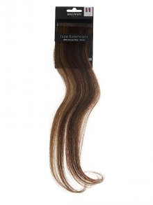 Balmain§Tape Extensions + Clip Application Human-Hair Chocolate Brown (4/8) 40cm 2 Stück